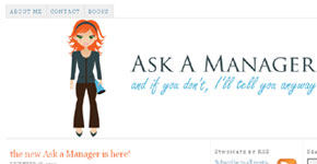 A small thumbnail of the Ask A Manager website